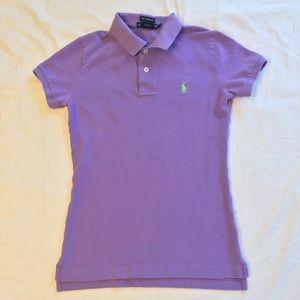 Ralph Lauren Purple Skinny Polo Size S